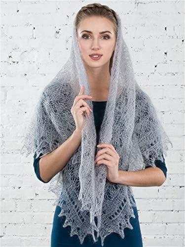 Orenburg Scarf Orenburg down-hair knitted warm gossamer lace shawl tippet stole white
