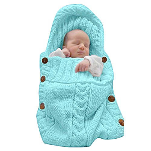 Xmwealthy Newborn Baby Wrap Swaddle Blanket Knit Sleeping Bag Sleep