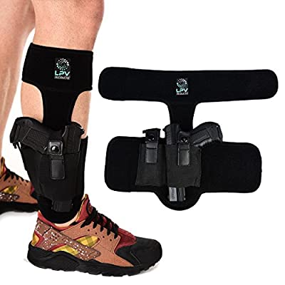 Ankle Holster for Concealed Carry | Universal Leg Gun Holster for Glock 43 42 19 36 26, Smith & Wesson Bodyguard M&P Shield, Springfield XDs, Ruger LCP LC9 LCR, Sig Sauer P938 P238, Taurus