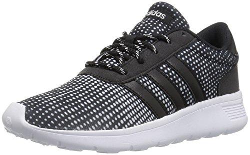 adidas Womens Lite Racer W Sneaker, Black/Black/White, 5 Medium US