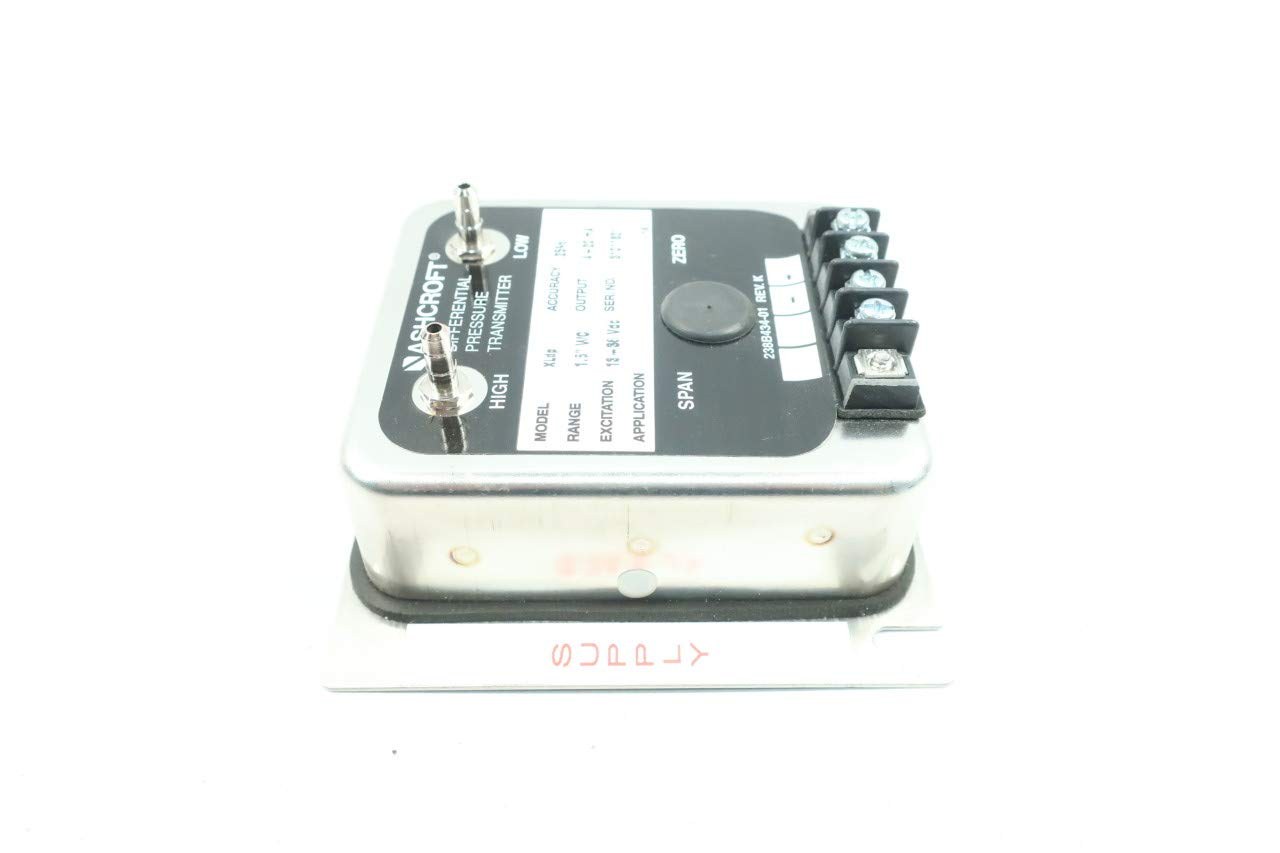 ASHCROFT XLDP Differential Pressure Transmitter 4-20MA 1.5IN WC 13-36V-DC