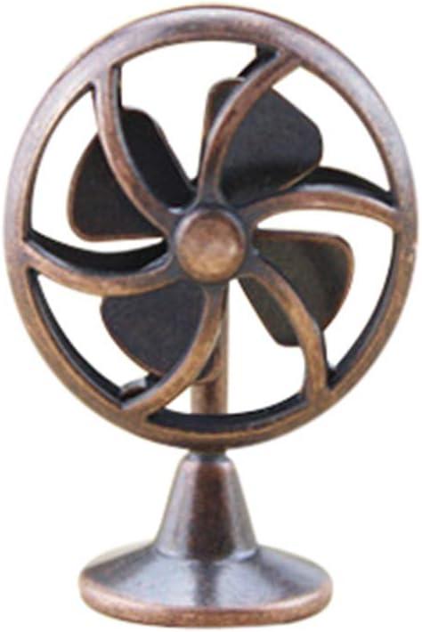 Momola Mini ventilateur /électrique,1//12 mini jouet maison accessoires mini jouet cadeau,Accessoires de maison de poup/ée Bronze