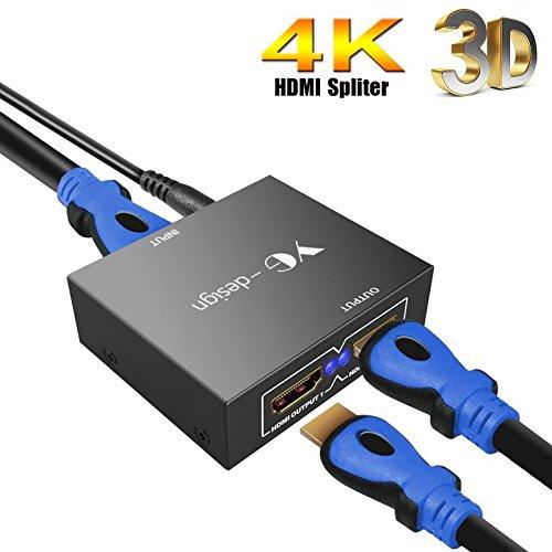 4K HDMI Splitter,1 In 2 Out HD