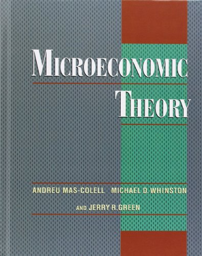 Microeconomic Theory by Andreu Mas Colell