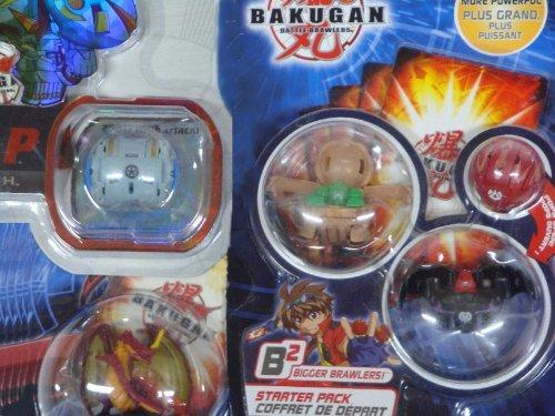 Bakugan Brawler B2 Subterra Hammer Gorem 530g, Darkus Ravenoid 410g, Pyrus Mystery Marble, 2