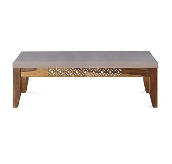 @home by Nilkamal Dalia Two Seater Dinning Bench (Walnut)