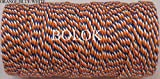 FINCOS 1 Piece(110yards) 25 Kinds Color Choose Colored Cotton Baker Twine for Gift Packing, Cotton Twine 12ply - (Color: Orange Blue White)