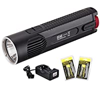 Bundle-4 Items: NiteCore EC4S 2150 Lumens Rechargeable CREE XHP50 LED Flashlight with Two Nitecore 18650 Batteries and a Lumentac 2 Channel Charger