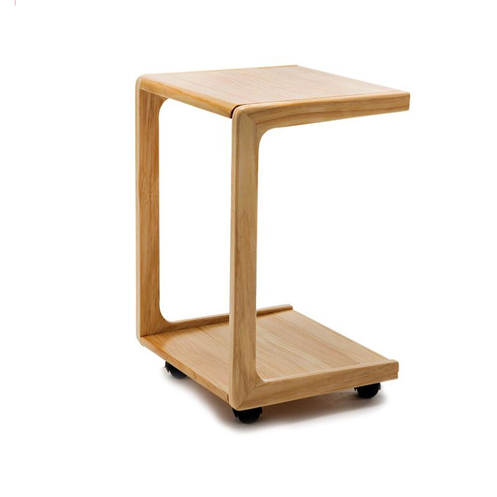 China-Bedside Table Bedside Table - Sofa Side Wooden Side Table Corner Table Bedside Table Small Tea Table Computer Table Removable Household Size -34.5x39x58cm /& (Color : A)