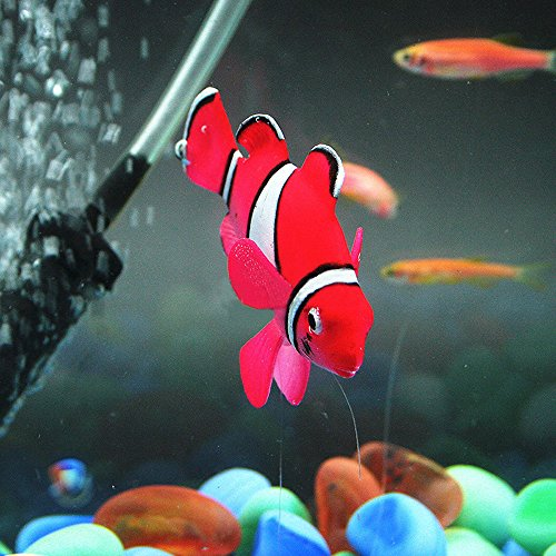 Bestgle aquarium decortion glowing ornament silicone for Fake fish tank with moving fish