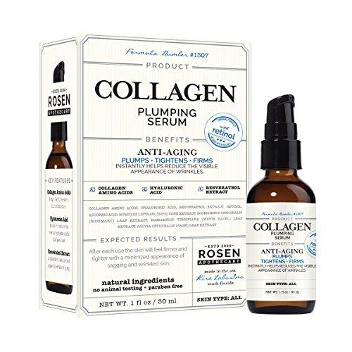 (Rosen Apothecary Collagen: Plumping Serum with Retinol 1oz /)
