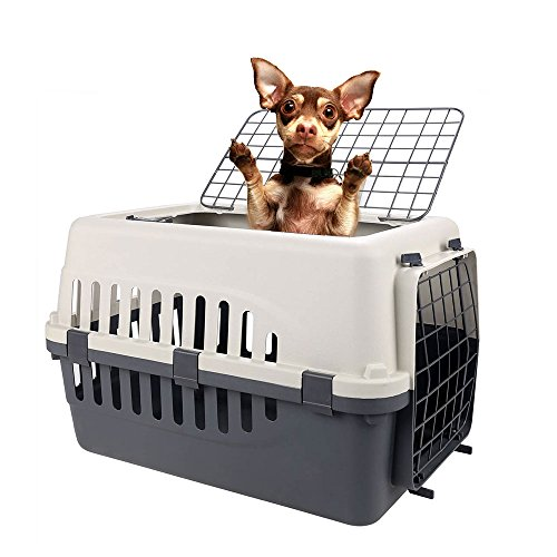 Homdox Small Two Doors Pet Carrier Kennel Portable Crate Cage