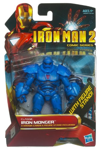 (Hasbro Iron Man 2 Comic 4 Inch Action Figure #35 Classic Iron Monger)