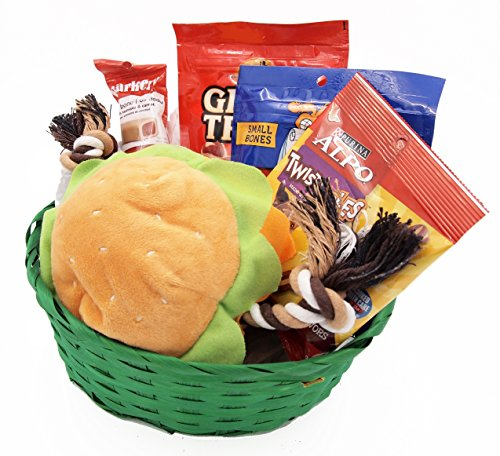 Dog Gift Basket Puppy Pets Treats Crewing Toy Holiday Set