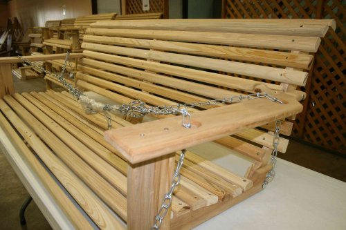 Cypress 5' Handmade Porch Swing