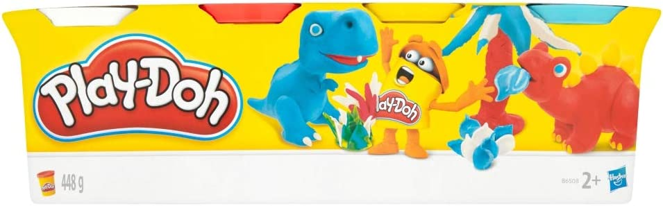 Play-Doh-B6510 Pack 4 Botes (Hasbro B5517) , color/modelo surtido: Hasbro Gaming: Amazon.es: Juguetes y juegos