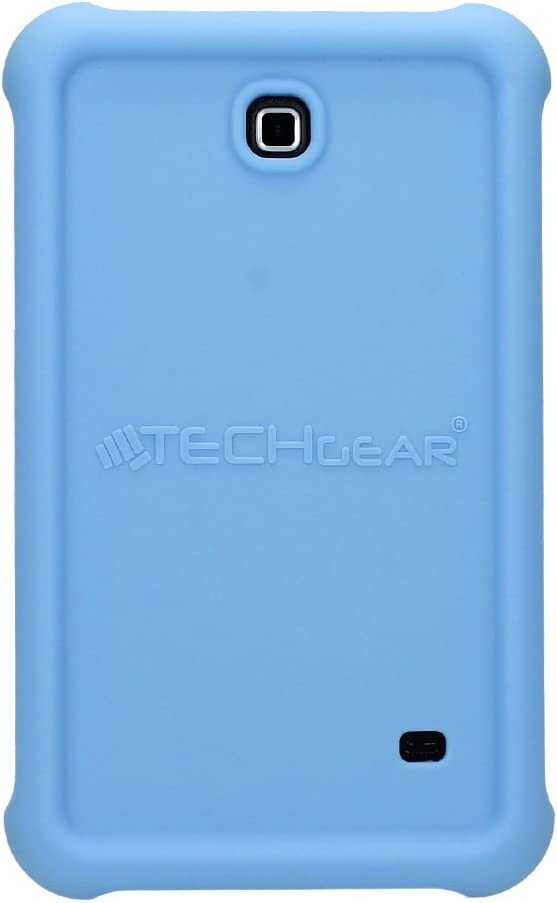 Film de Protection S/éries SM-T230 TECHGEAR Coque Bumper pour Samsung Galaxy Tab 4 7.0 Coque de Protection Caoutchouc R/ésistante aux Chocs avec Bords et Coins Renforc/és Bleu Clair