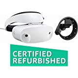 Dell - Visor Virtual Reality Headset and Controllers for Compatible Windows PCs (Certified Refurbished), White headset with black controls