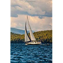 Journal Sailboat Lake Blue Water Mountains: (Notebook, Diary, Blank Book)