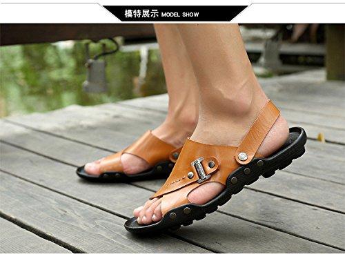 Sandali di grandi dimensioni dei sandali di estate dei nuovi uomini nuovi sandali, giallo, UK = 9.5, EU = 44