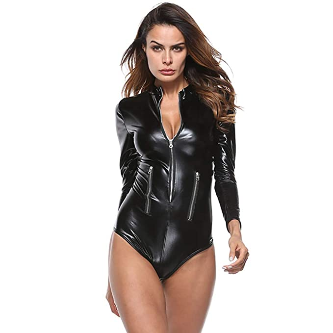 Amazon.com: YKARITIANNA Womens Sexy Jumpsuit Leather ...