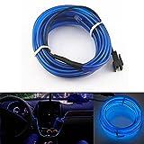 Ronben 6.5ft Panel Gap Neon Lamp Strip Cold EL OLED Interior Light Trim Atmosphere (Blue)