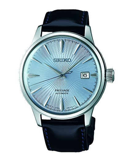 SEIKO PRESAGE Automatic Ice Blue Cocktail Time 'Sky Diving' SRPB43J1