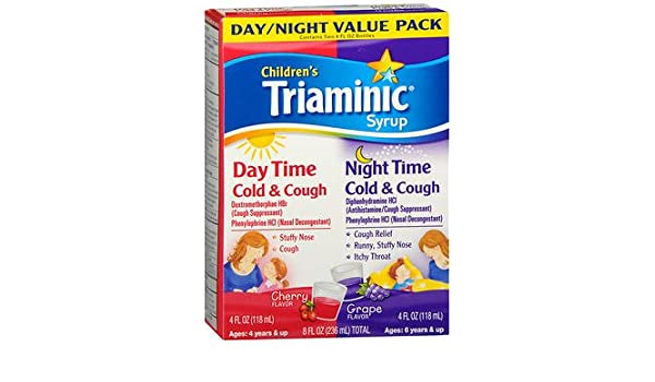 Amazoncom Triaminic Childrens Syrup Day Timenight Time Cold