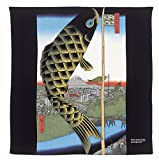 Japanese Furosiki(wrapping Cloth) Ukiyoe Koi-nobori Print
