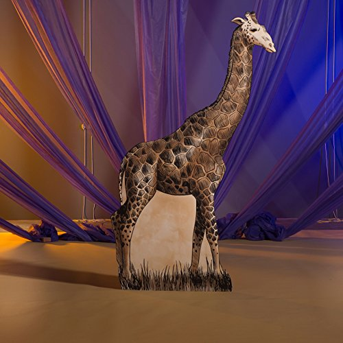 - 7 ft. 11 in. Wild Jungle Safari Dreams Giraffe Standee Standup Photo Booth Prop Background Backdrop Party Decoration Decor Scene Setter Cardboard Cutout