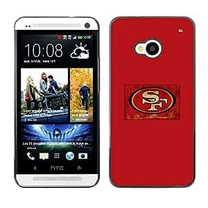 SF - Metal de aluminio y de plástico duro Caja del teléfono - Negro - HTC One M7