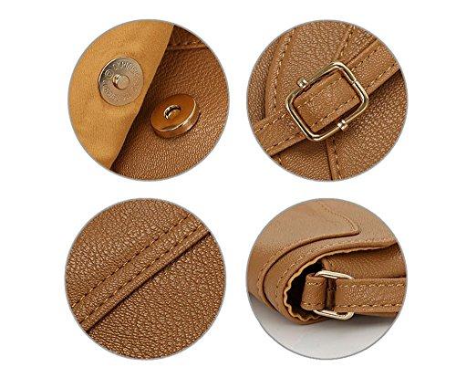 Bag for YBYT Khaki Messenger Women Handbags Purse Crossbody Vintage Shoulder PU Leather 0w0grzq7