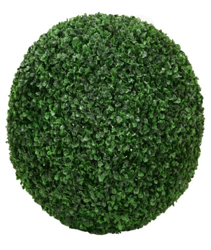 ONE 20'' ARTIFICIAL BOXWOOD BALL INDOOR OUTDOOR TOPIARY PLANT by Arcadia Silk Plantation