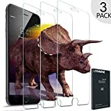 Image of UTHMNE 3-Pack iPhone 7 Screen Protector Glass, 0.3MM Slim And 9H Hardness Bubble Free, Anti-Fingerprint, Oil Stain&Scratch Coating