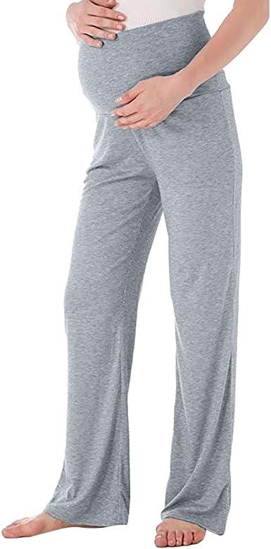 Premama Invierno Leggins Abrigos Pantalones Rectos Anchos De Maternidad Para Mujer Pantalones Elasticos De Embarazo Amazon Es Ropa Y Accesorios