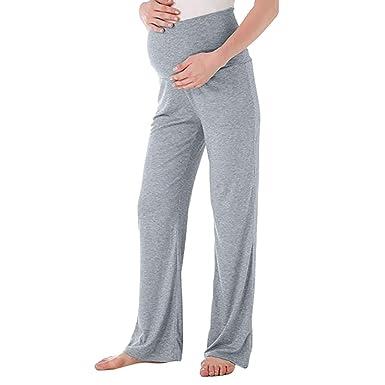 8b94aa244 Premamá Invierno Leggins Abrigos Pantalones Rectos Anchos De Maternidad  para Mujer Pantalones EláSticos De Embarazo  Amazon.es  Ropa y accesorios