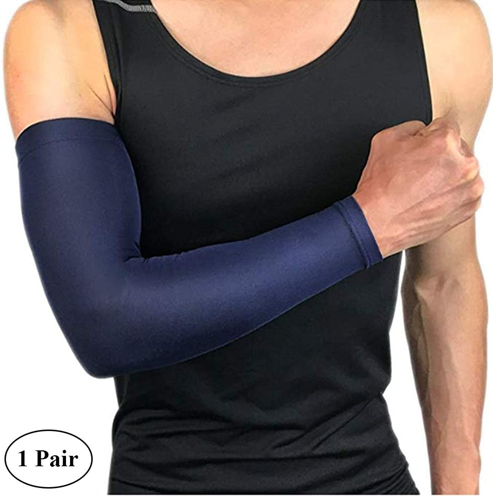 1 Pair of Arm Cooling Sleeves UV Sun Protection Sport Sleeves for Women Men Driving Cycling Golf Outdoor Sports