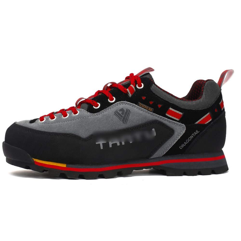 Rouge GBRALX Chaussures de randonnée en Plein air pour Hommes Chaussure d'entraînement Confortable, antidérapante et résistante à l'usure Chaussure de Course pour Sportif