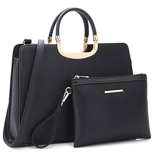 Dasein Women's Handbags and Purses Ladies Designer Tote Shoulder Bags Satchel Top Handle Work Bags Briefcase w/Matching Wallet ()