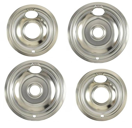 """W10196405 - W10196406 Whirlpool Range Large 8"""" and 6"""" Steel Drip Bowl Pan Replaces PS11750107, AP6016814, WPW10196405, W10196405, W10196406, WPW10196406, W10196405RW, W10196406RW"""