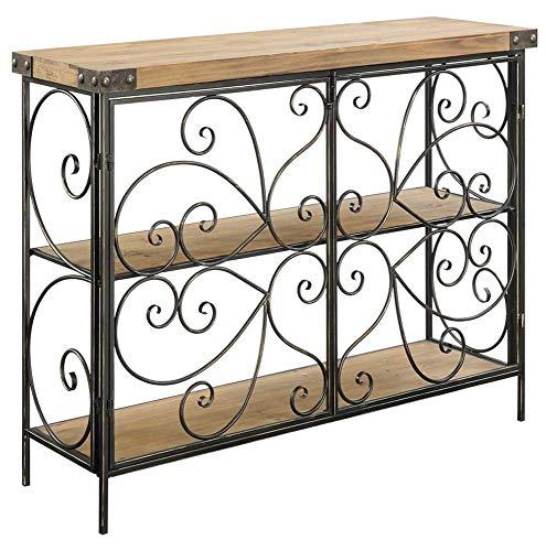 Convenience Concepts 227014 Sedona Decorative Wire Console Table, Natural Fir / Antique Black