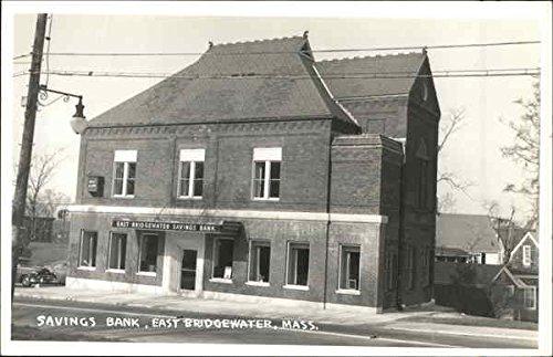 Savings Bank East Bridgewater  Massachusetts Original Vintage Postcard