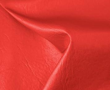 HAPPERS 0,50 Metros de Polipiel para tapizar, Manualidades, Cojines o forrar Objetos. Venta de Polipiel por Metros. Diseño Sugan Color Rojo Ancho 140cm: ...