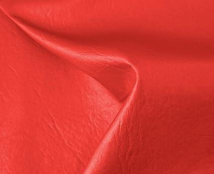 HAPPERS 0,50 Metros de Polipiel para tapizar, Manualidades, Cojines o forrar Objetos. Venta de Polipiel por Metros. Diseño Sugan Color Rojo Ancho ...