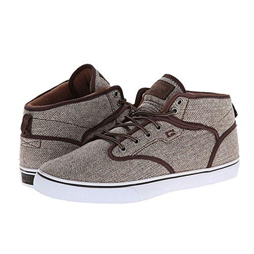 GLOBE Skateboard Shoes MOTLEY MID BROWN HERRINGBONE Size 5