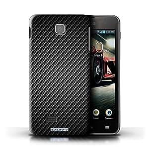 KOBALT? Protective Hard Back Phone Case / Cover for LG Optimus F5/P875 | Grey Design | Carbon Fibre Effect/Pattern Collection