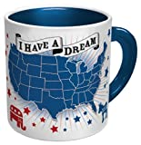This large ceramic mug depicts the United States divided into red states (GOP leaning) and blue states (Democrat leaning). But when you pour hot liquid in, something miraculous occurs -- all of the red states turn blue! Imagine the satisfaction you'l...