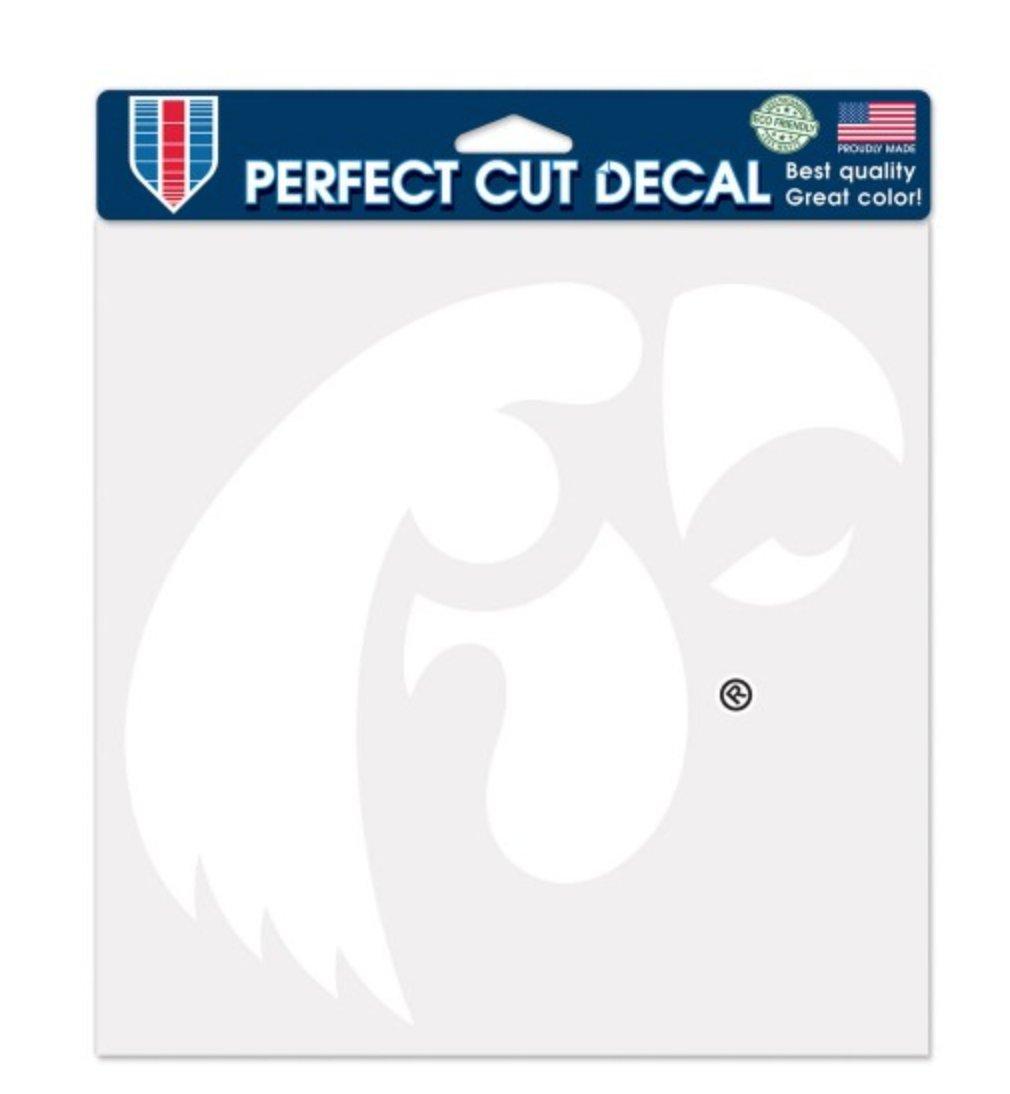 WinCraft NCAA University of Iowa Hawkeyes 8 x 8 inch White Perfect Cut Decal