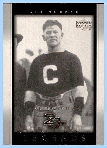 2000 Upper Deck Legends #102 Jim Thorpe HOF SERIAL #1432/2500 CANTON BULLDOGS