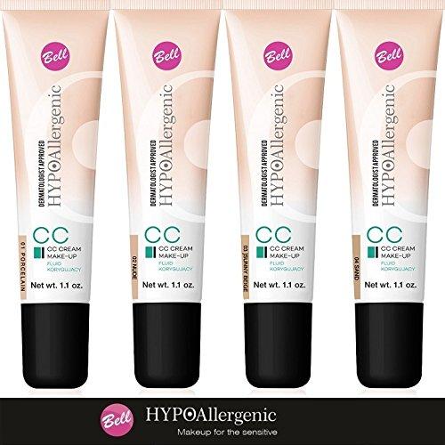 Bell hipoalergénico CC Crema Maquillaje Corrector Líquido 03Sunny Beige 30G/G..